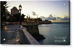 Acrylic Print featuring the photograph Alameda Apodaca Promenade Cadiz Spain by Pablo Avanzini