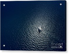 Amazing View To Yacht Sailing In Open Acrylic Print