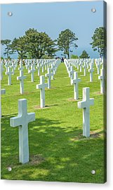American Cemetery, Colleville Acrylic Print by Jim Engelbrecht