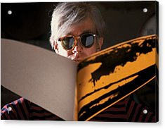 Andy Warhol In New York, United States Acrylic Print by Herve Gloaguen