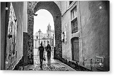 Acrylic Print featuring the photograph Arch Of The Rose Cadiz Spain by Pablo Avanzini