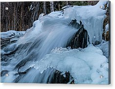 Big Hills Springs Under Snow And Ice, Big Hill Springs Provincia Acrylic Print