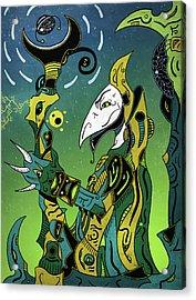 Acrylic Print featuring the digital art Birdman by Sotuland Art