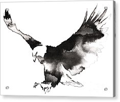 Black And White Monochrome Painting Acrylic Print