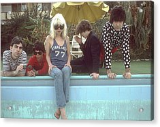 Blondie Portrait Session In La Acrylic Print by Michael Ochs Archives