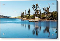 Acrylic Print featuring the photograph Boat Jetty Found On Bruny Island In Tasmania, Australia. by Rob D