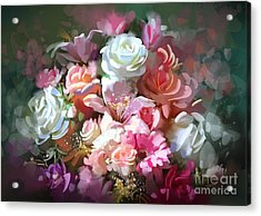 Bouquet Of Flowers,digital Acrylic Print