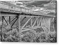 Acrylic Print featuring the photograph Bridge Perspective by Britt Runyon