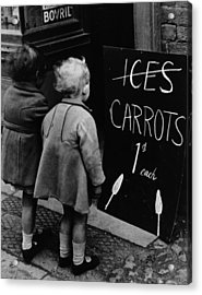 Carrot Lollies Acrylic Print by Fox Photos