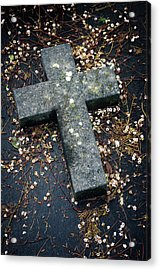 Cemetery Cross Acrylic Print