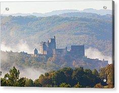 Chateau Beynac In The Mist Acrylic Print