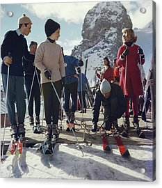 Cortina Dampezzo Acrylic Print by Slim Aarons