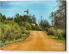 Country Road Acrylic Print by Elijah Knight