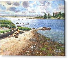 Crab Rock, Low Tide Acrylic Print
