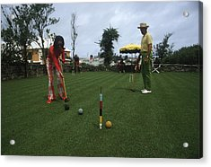 Croquet Acrylic Print by Slim Aarons