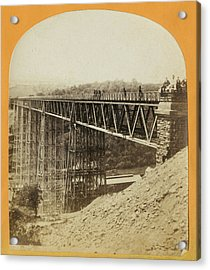 Crumlin Viaduct Acrylic Print by London Stereoscopic Company