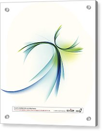 Curved Shape On White Background Acrylic Print by Eastnine Inc.