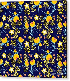 Cute Vector Seamless Pattern With Acrylic Print