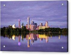 Dallas Texas Cityscape Reflection Acrylic Print