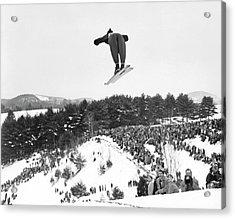Dartmouth Carnival Ski Jumper Acrylic Print