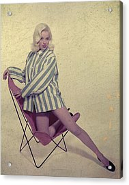Diana Dors Acrylic Print by Carl Sutton
