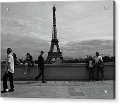 Eiffel Tower, Tourist Acrylic Print