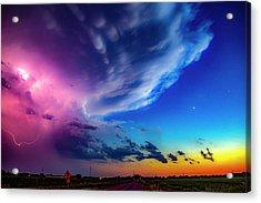 Epic Nebraska Lightning 007 Acrylic Print