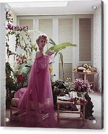 Eva Gabor Acrylic Print by Slim Aarons
