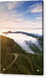 Fogfall, Berkeley Hills Acrylic Print by Vincent James