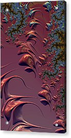 Acrylic Print featuring the digital art Fractal Playground In Pink by Shelli Fitzpatrick