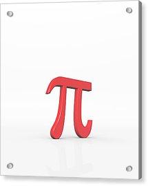 Greek Letter Pi, Lower Case Acrylic Print by David Parker