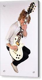 Guitarist Dave Tirio Acrylic Print by Jim Steinfeldt