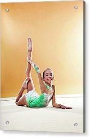 Gymnast, Smiling, Bending Backwards Acrylic Print by Emma Innocenti