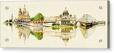 High Resolution Panoramic Water Color Acrylic Print by Trentemoller