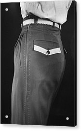 High Style In Mens Fashions, Extreme St Acrylic Print by Nina Leen