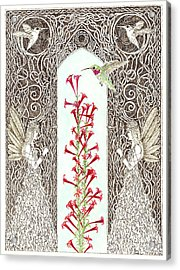 Hummingbird Sanctuary Acrylic Print