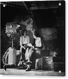 Ingrid Bergmanroberto Rossellini Acrylic Print by Gordon Parks