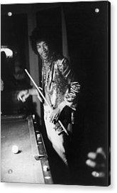 Jimi Hendrix Plays Pool Acrylic Print