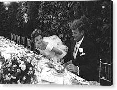 John F. Kennedy And Jacqueline Kennedy Acrylic Print