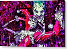 Acrylic Print featuring the mixed media Joker And Harley Quinn by Al Matra