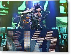 Kiss Perform At Wembley Arena In London Acrylic Print by Neil Lupin