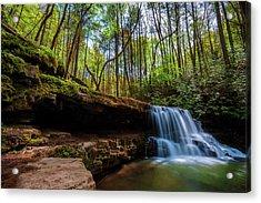 Laurel Run Waterfalls In Tennessee Acrylic Print