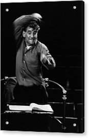 Leonard Bernstein Acrylic Print by Erich Auerbach