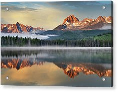 Little Redfish Lake, Sawtooth Mountains Acrylic Print