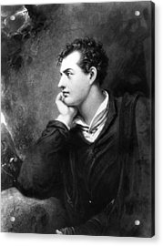 Lord Byron Acrylic Print by Hulton Archive