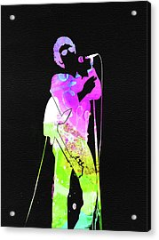 Lou Reed Watercolor Acrylic Print