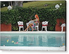 Lounging In Bermuda Acrylic Print by Slim Aarons