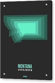 Map Of Montana 3 Acrylic Print