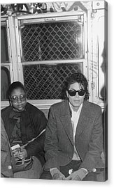 Michael Jackson In Bad Acrylic Print by Hulton Archive