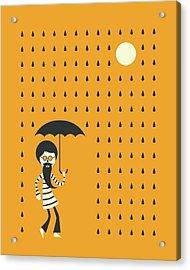 Minimal Rain Acrylic Print by Jazzberry Blue